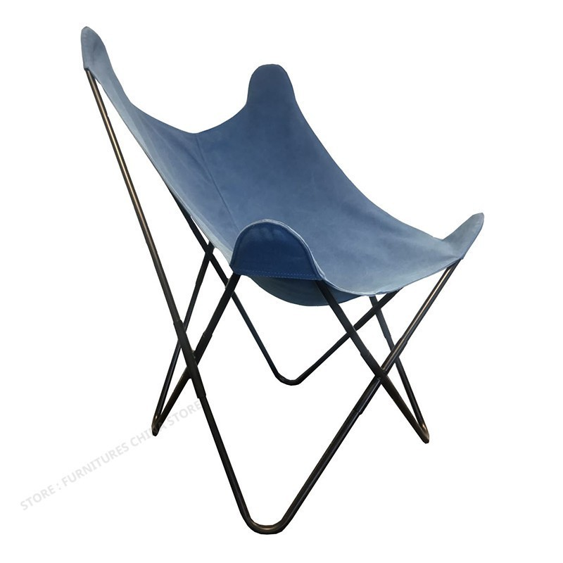 Classic Designer Chair Simple Modern Beach Leisure Butterfly Chair Bedroom Balcony Living Room Recliner