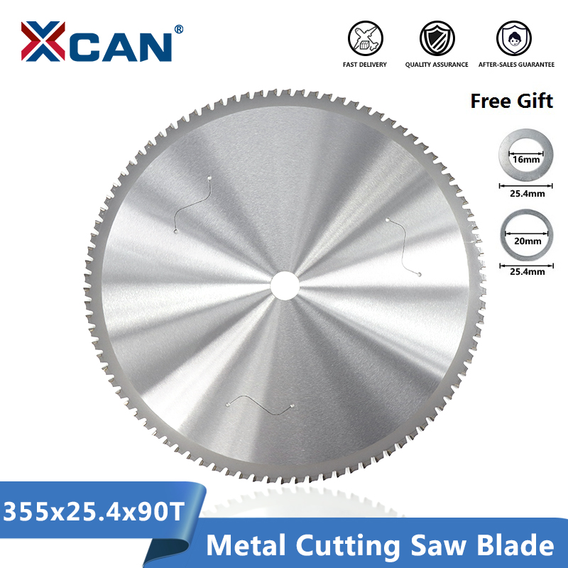 XCAN Metal Cutting Saw Blade 355mm(14 Inch) 90Teeth For Aluminum Iron Steel Cutting Dry Cutter Circular Cutting Saw Disc