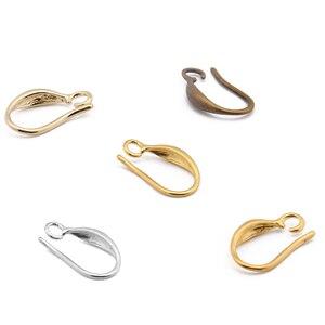 Image 3 - 20 sztuk obsada miedzi kobieta moda francuskie kolczyki ucha haki drutu 10*15mm DIY biżuteria dokonywanie ustalenia akcesoria hurtownie