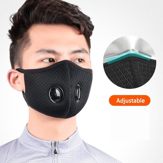 Dust-proof Cycling Face Mask PM 2.5 Sport Face Mask Anti-Pollution Running Training Bike Cycling Mask Washable