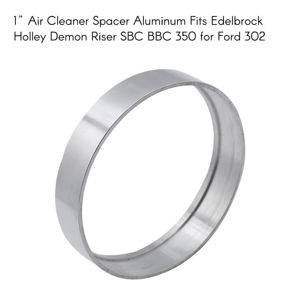 """Автомобильные аксессуары 1/4 """"-- 2"""" воздухоочиститель Spacer алюминий подходит для Edelbrock Holley Demon Riser SBC"""