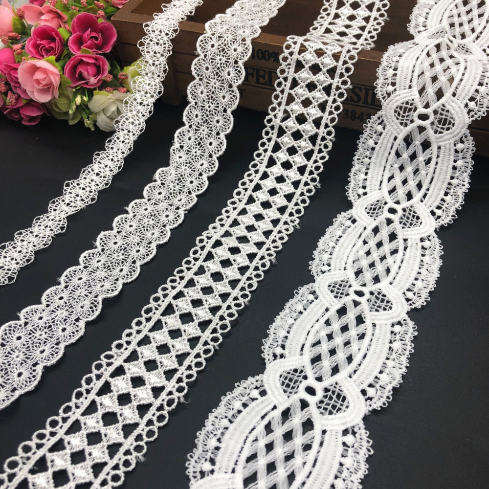 2-5CM 15 Yards White Quality Lace Sewing Home Furnishing Garment Accessories DIY Handmade Crafts Fabric Material Decoration Lace