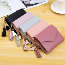 2019 Leather Women Wallet Hasp Small and Slim Coin Pocket Purse Women