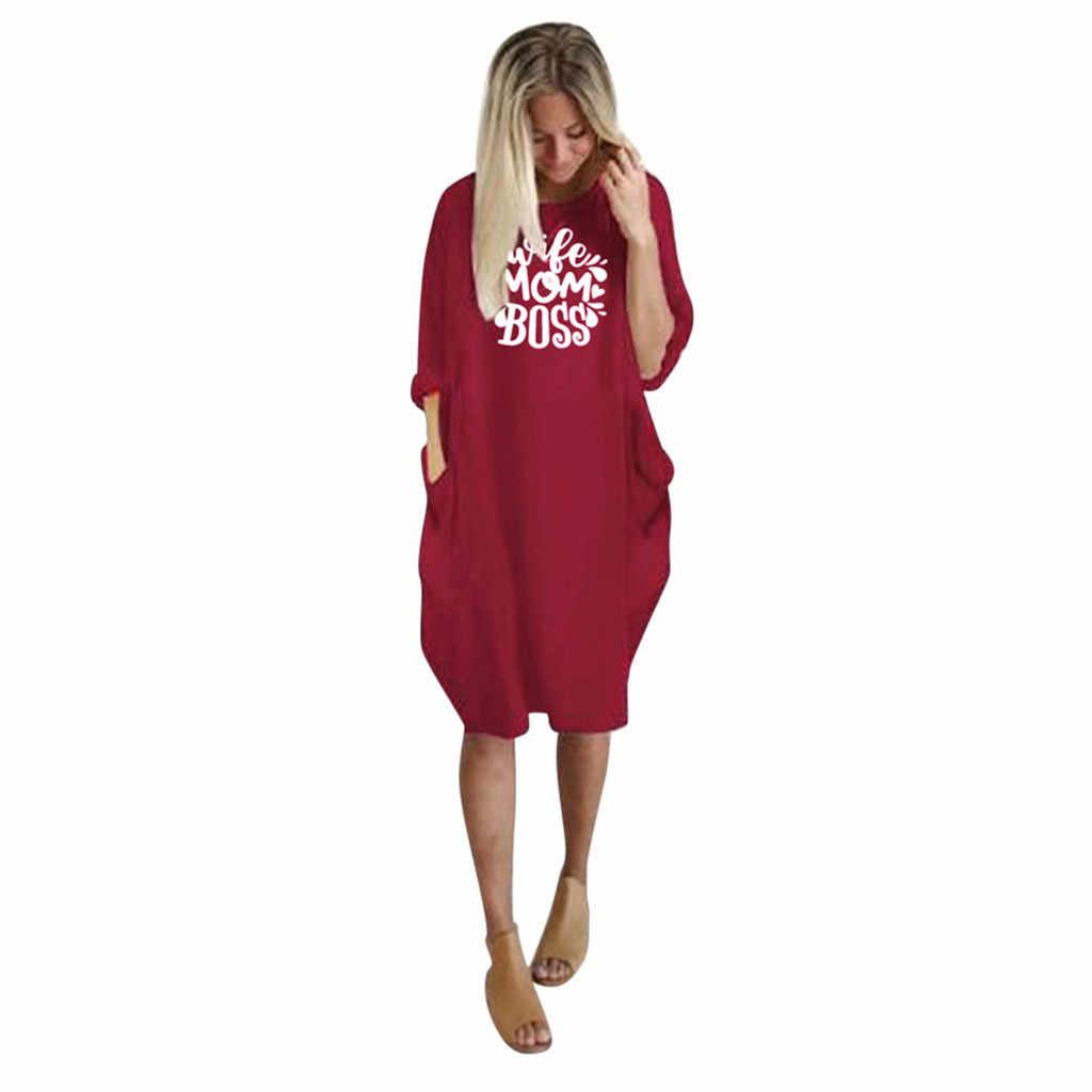 Сексуальный женский джемпер дамское Повседневное платье большого размера, мешковатые o-образным вырезом с длинным рукавом Карманный пуловер мини платье