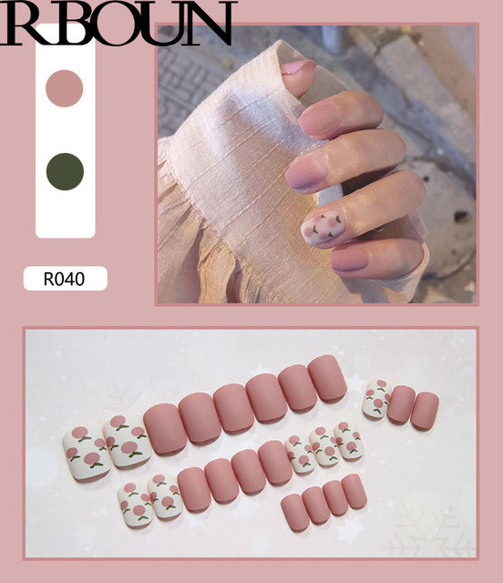Nail Tip Fake Art Press on Nails with Glue Designs Set Full Artificial Short Packaging Kiss False Clear Cover Tipsy Stick Square 3