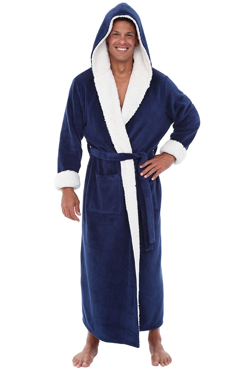 Kimono Bathrobe Gown Sleepwear Velvet New Soft Solid And Scarf Collar Comfortable Loose