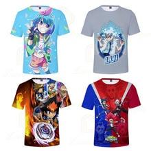 Summer Boy Girl Beyblade Burst Evolution T-shirt Kids 3D Printed T-shirts Children Casual Tshirt Short Sleeve Pullover T Shirt embroidered pullover t shirt