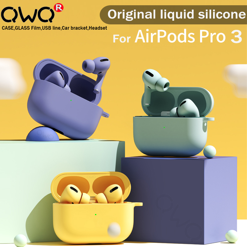 Жидкостный Мягкий силиконовый чехол для Airpods Pro Чехол беспроводной Bluetooth защитный чехол для айфон Apple Airpod 3 2019 аксессуары для наушников чехлы|Аксессуары для наушников|   | АлиЭкспресс