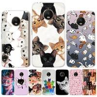 Funda de teléfono con gato para Motorola, protector de teléfono con gato para Moto G9 G8 G7 Power G6 G5S G5 E6 E4 E5 Plus Play G4 One Action X4 EU