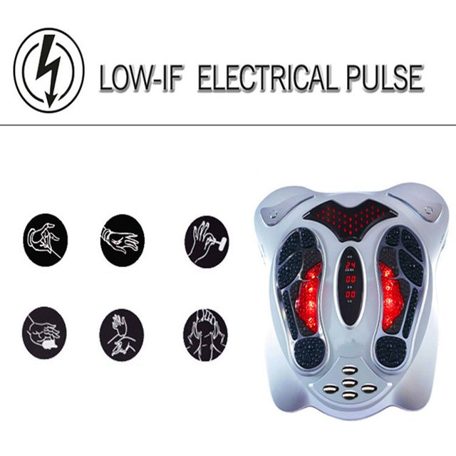 Infrared electric foot massager circulation booster therapy fitness belt machine low frequency physiotherapy