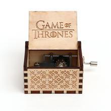 Антикварная деревянная резная ручная музыкальная шкатулка Гарри коробка Игра престолов Звездные войны музыкальная шкатулка детские подарки на день рождения вечерние шкатулка