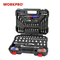 WORKPRO 101PC Mechanic Tool Set Home Tools for Car Repair Tools Sockets Set Ratchet Spanners Wrench repair tool socket sets tools set tools -