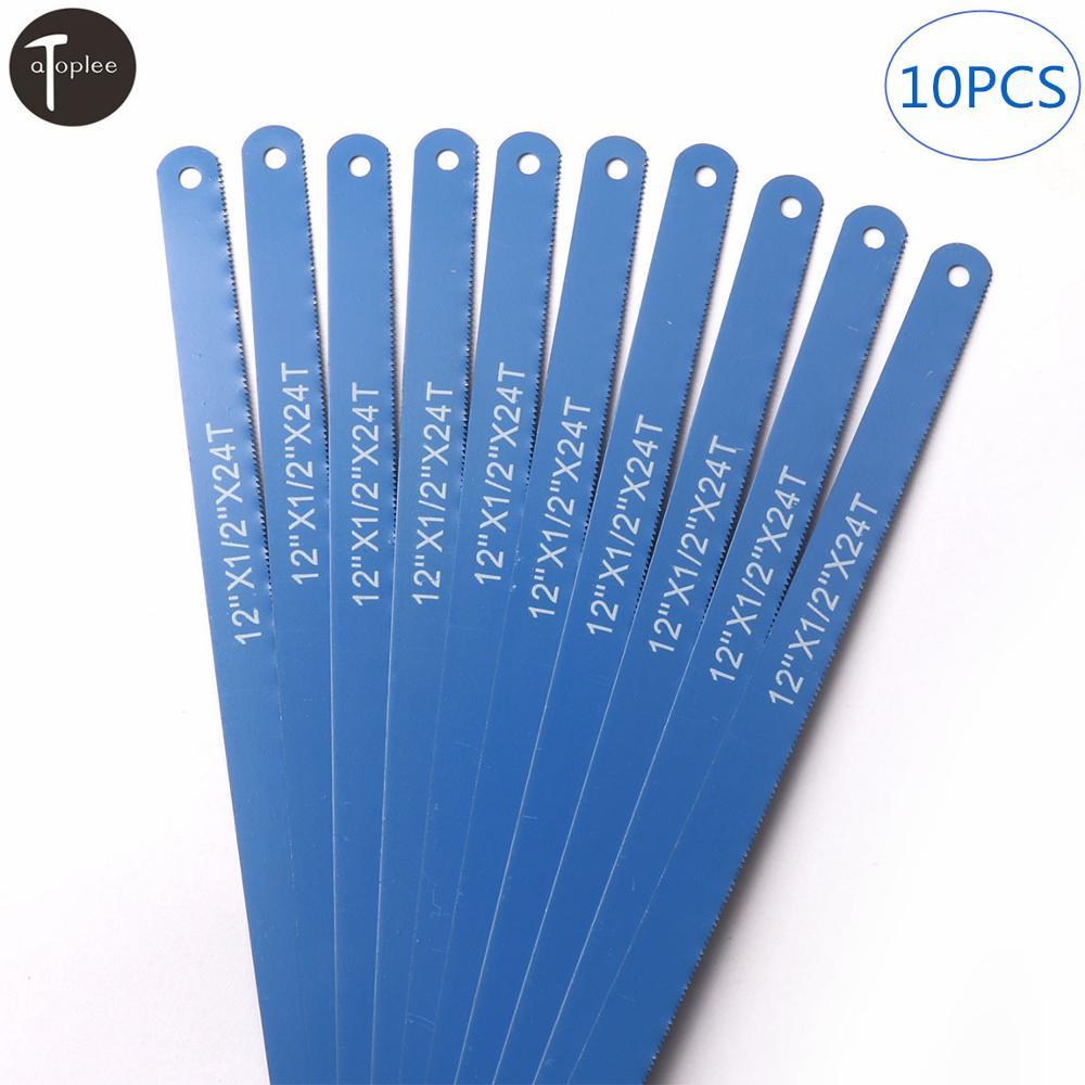 """10Pcs 12/"""" High Carbon Steel Hacksaw Blades Metalworking Blade Cutting Metal Tool"""