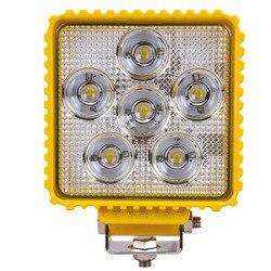 Maquinaria agrícola concentrada, luces LED de trabajo, 18 w, faros LED, iluminación, ingeniería, minería, luces de coche