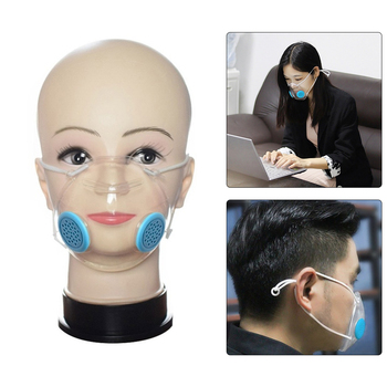 Protective Face Mask With Breathing Valve Silicone Reusable Transparent Deaf-Mute Masks Outdoor Dust Proof Anti-Fog Face Shields