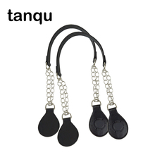 Tanqu 1 쌍의 금속 어깨 체인 벨트 Obag O 가방 다채로운 드롭 엔드 조합 핸드백 핸들