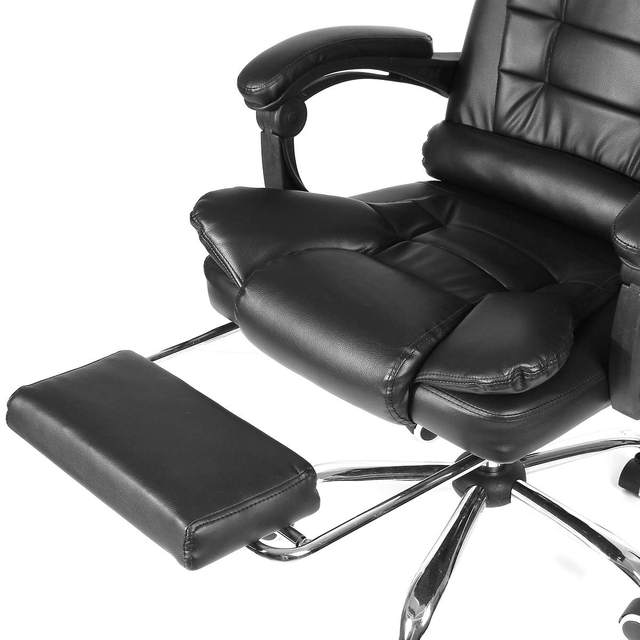 Office Computer Chair Ergonomic Adjustable Rotating PU Leather Gaming Chair Armchair with Footrest Computer Lifting Swivel Chair 5