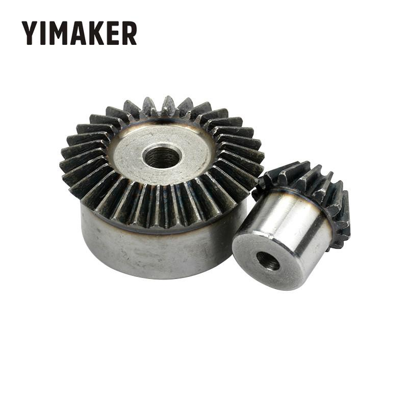 YIMAKER One Pair Bevel Gear Metal Gear 90 Degree Pairing Bevel Gear 1.5. 1.5m 15T And 30T 1:2