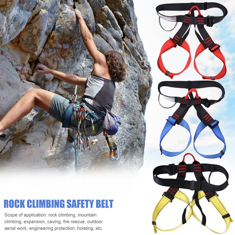 Professional Rock Climbing Safety Belt Outdoor Camping Hiking Downhill Harness Rappel Rescue Climbing Protecting Tools Equipment