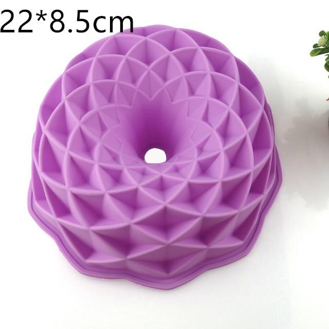 3D silikona kūku veidnes