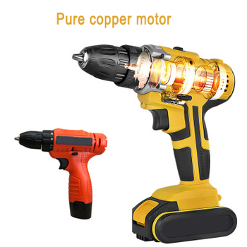 Electric Cordless Drill Screwdriver LED 2-Speed Multifunctional Home DIY Tool HVR88