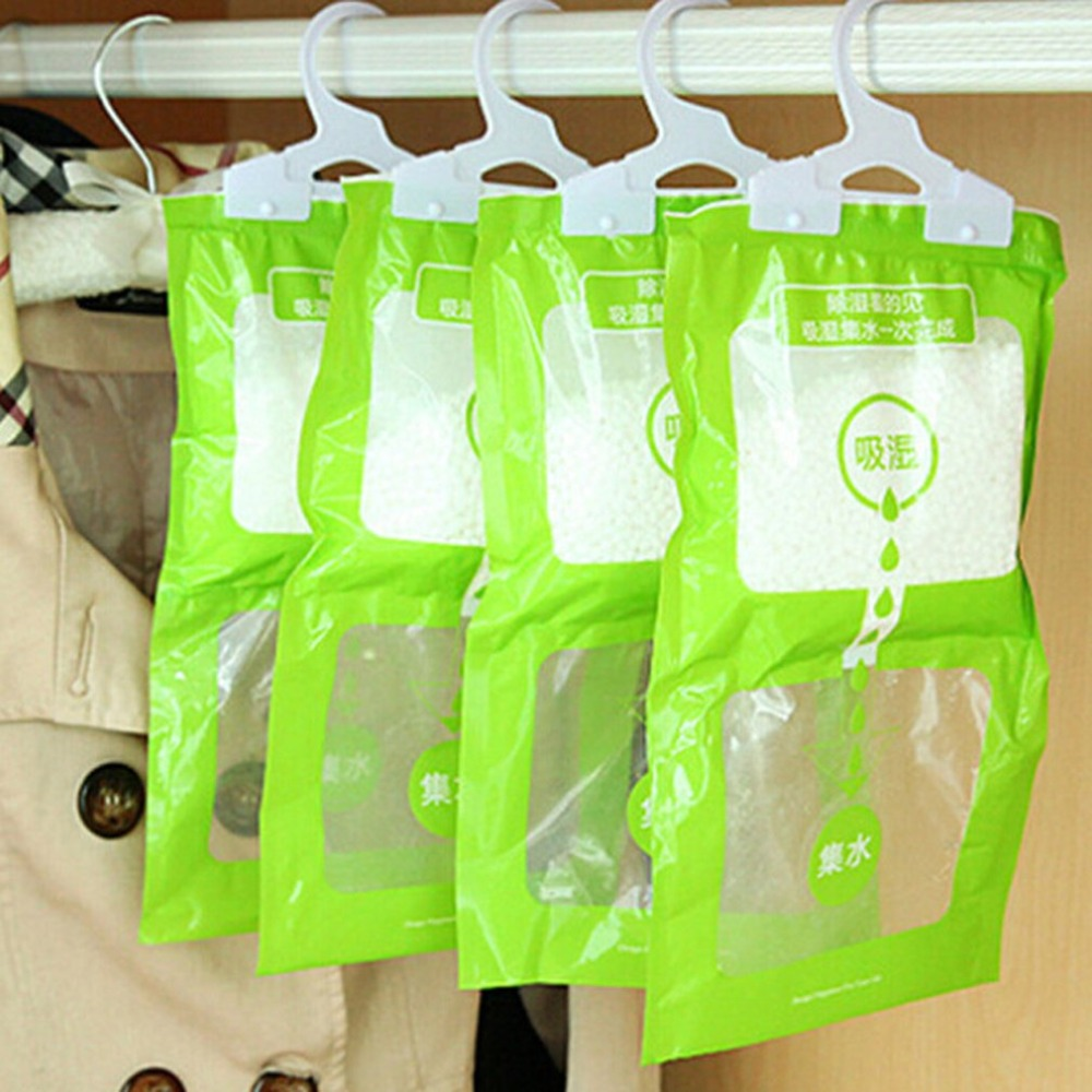 Wardrobe Hanging Moisture Bags Kitchen Bathroom Wardrobe Dehumidifier Bags Drying Agent Hygroscopic Anti-Mold Desiccant Bag