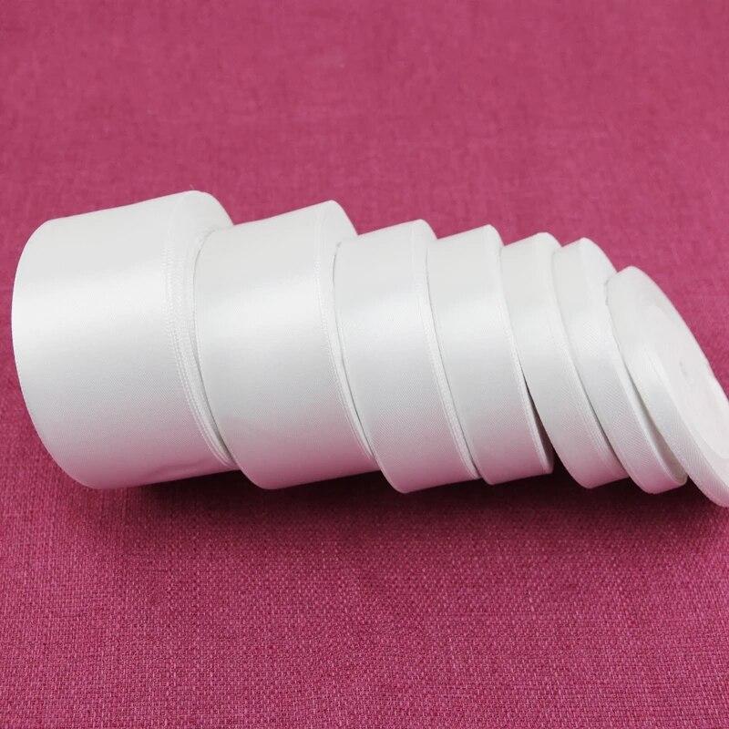 (25 ярдов/рулон) белая атласная лента с одним лицом, оптовая продажа, подарочная упаковка, рождественские ленты