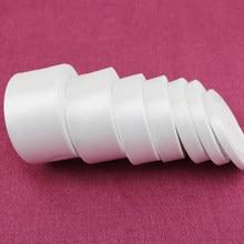Fita de cetim de rosto único, fita branca de cetim com 25 jardas/rolo, presente para embrulho de natal