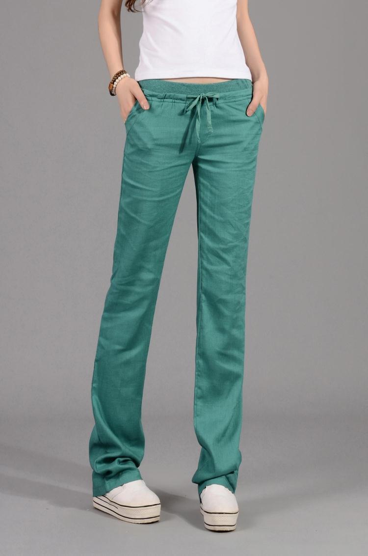 Frenulum Medical Bottoms Female Pure Color Professional Hospital Doctor Nurse Laboratory Spring Autumn Loose Soft Slim Trousers