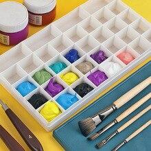 Paint-Box Watercolor Flip-Cover Square Gouache Transparent Plastic 12/24/36/48-grid