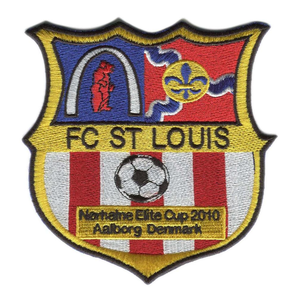 Logo Patches Custom Soccer Patches Embroidery Patches For Clothing Heat Transfer Backing