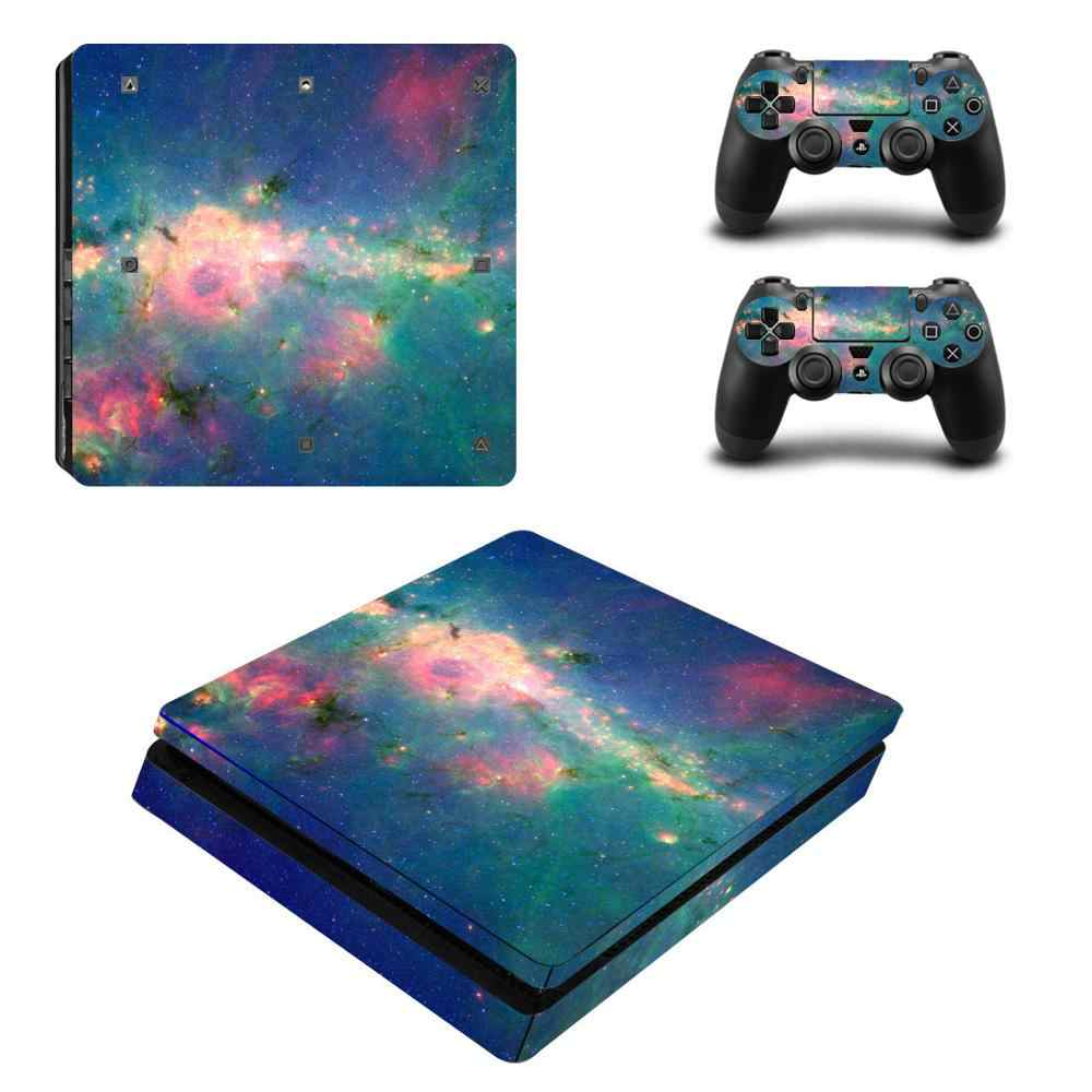 Vinyl For PS4 Slim Sticker Skin Decal For Sony Playstation 4 Slim Console+2 controller Skin Sticker