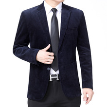 Blazer Costume Coats Suits Business-Casual Male Pure-Cotton Luxury Single-Breasted Masculino