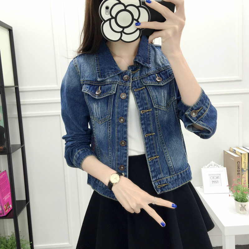 2019 Women Fashion Coat Denim Jacket Winter for Jeans Loose Fit Casual Clothes