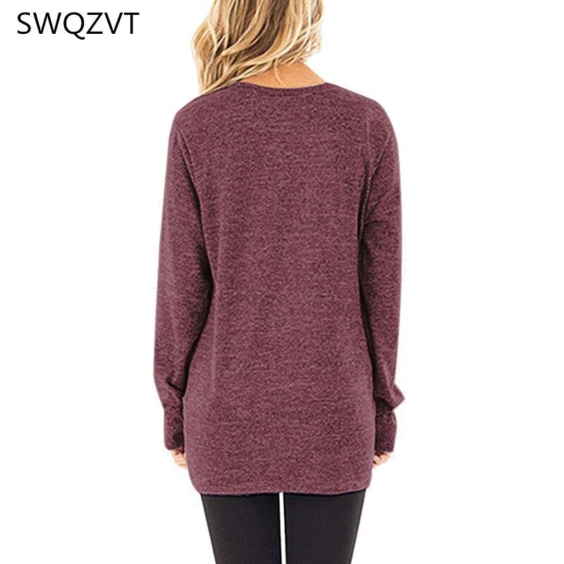 Damska koszulka z długim rękawem casual o-neck slim jesienno-zimowa damska koszulka topy odzież damska czarna szara koszulka damska streetwear 5