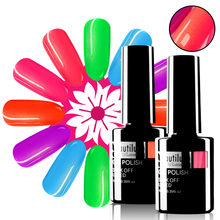 Beautilux Gouden Zeemeermin Neon Nail Gel Polish Zomer Candy Hot Pink Groen Geel Nagels Art Gel Vernis Suiker Glitter Gels 10Ml(China)
