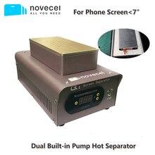 Novecel q1 separador profissional de lcd, máquina de remoção de vidro de tela integrada dupla para iphone, samsung, huawei
