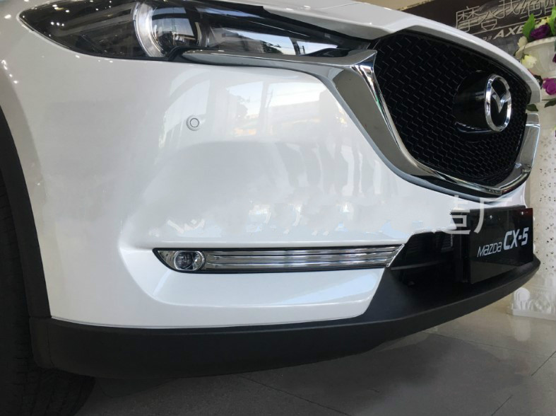 ABS Chrome Accessories Front Head Fog lamp Light Cover Trim For <font><b>Mazda</b></font> <font><b>CX5</b></font> CX-5 KF SERIES 2017 2018 19 Car Sticker image