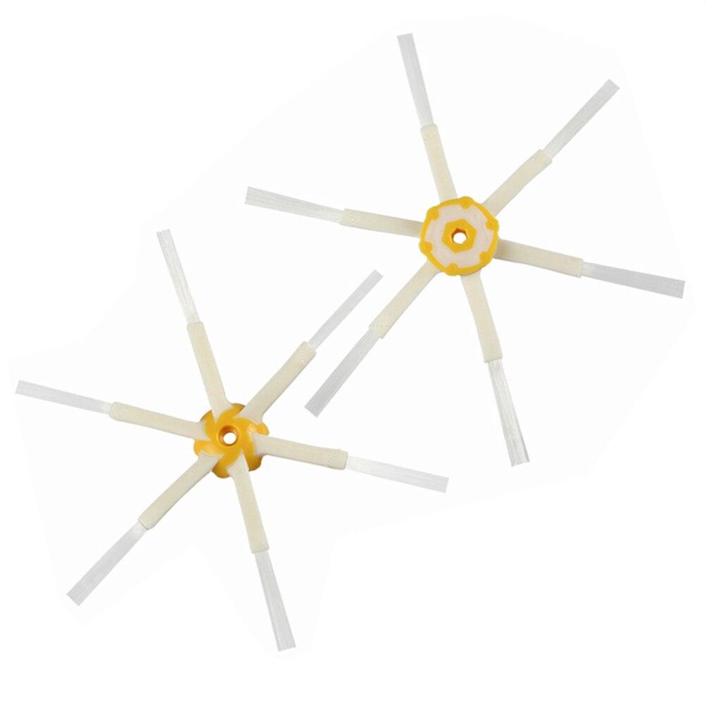 2 шт. 6-вооруженная запасные боковые щетки для iRobot Roomba 600 700 серии 510 530 550 620 650 760 770 780 Запчасти для робота-пылесоса