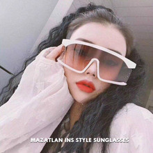 Mazatlan Oversized Flat Top Sunglasses Women 2019 Vintage
