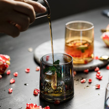 300ml Colored Whiskey Glass Transparent Crystal Glass Cup For Whiskey Wine Vodka Bar Club Beer Drinking Milk Wine Glass whiskey