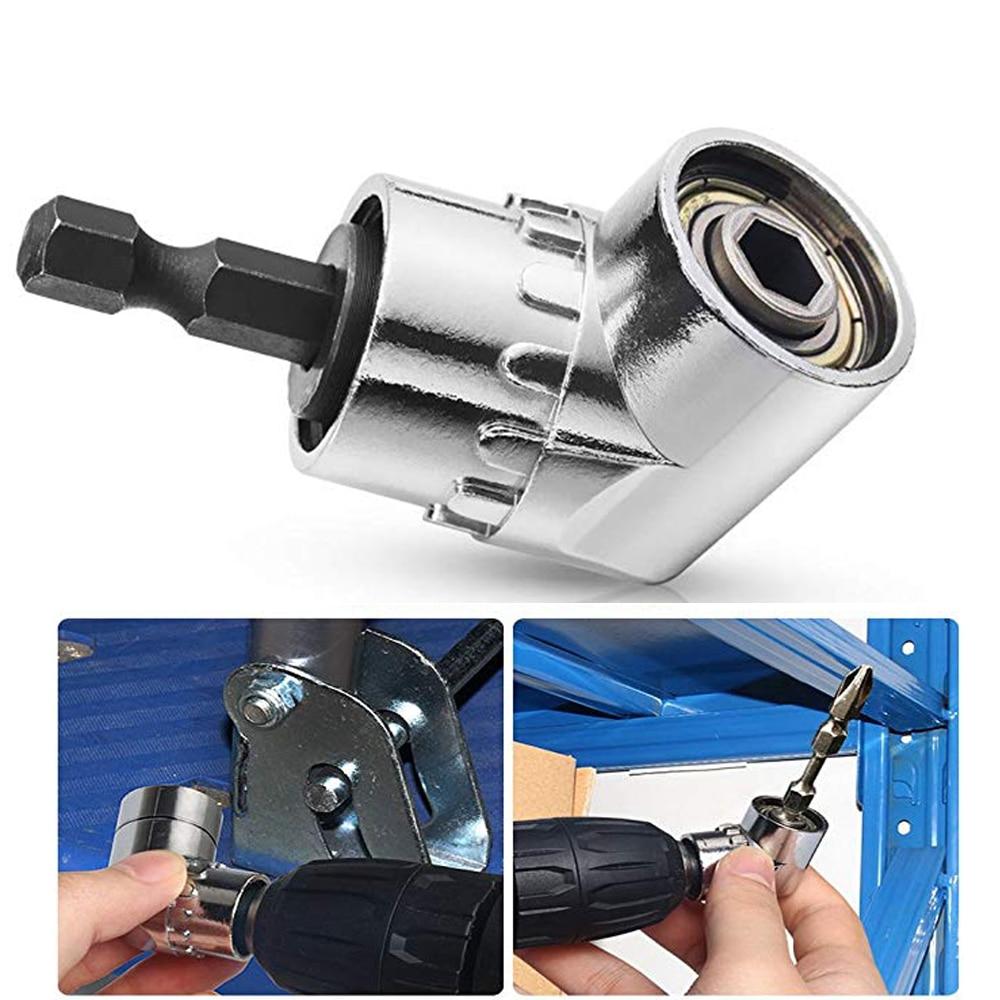 Magnetic Driver Drill Set 105degree Right Angle Driver Screwdriver Bit Set Drill Adapter Angle Drill Precision Screwdriver 1/4
