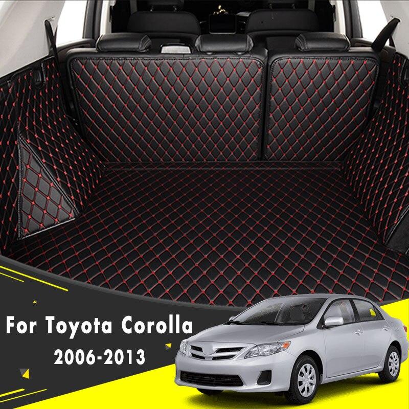 Tapis de coffre de voiture tapis tapis accessoires Auto revêtements de cargaison de voiture pour Toyota Corolla 2006 2007 2008 2009 2010 2011 2012 2013