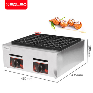 Image 2 - XEOLEO Double plates Gas Fish ball machine LPG Takoyaki ball Grill machine Commercial Octopus ball furnace