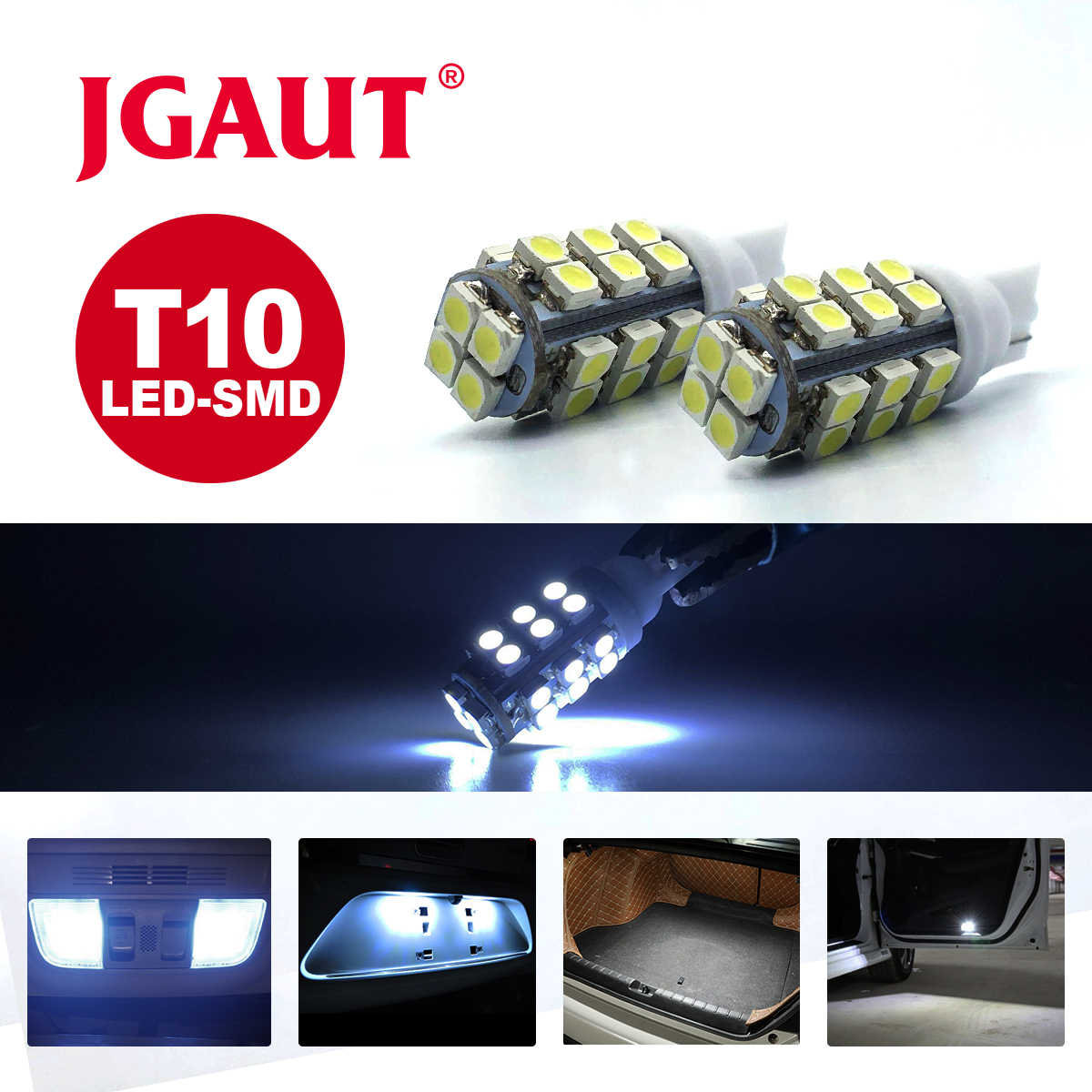 HotSale T10 High Power super bright White 28 SMD 3528 1206 LED Wedge Car Lights Bulbs 912 921 Auto BULB 28smd 28led New arrival