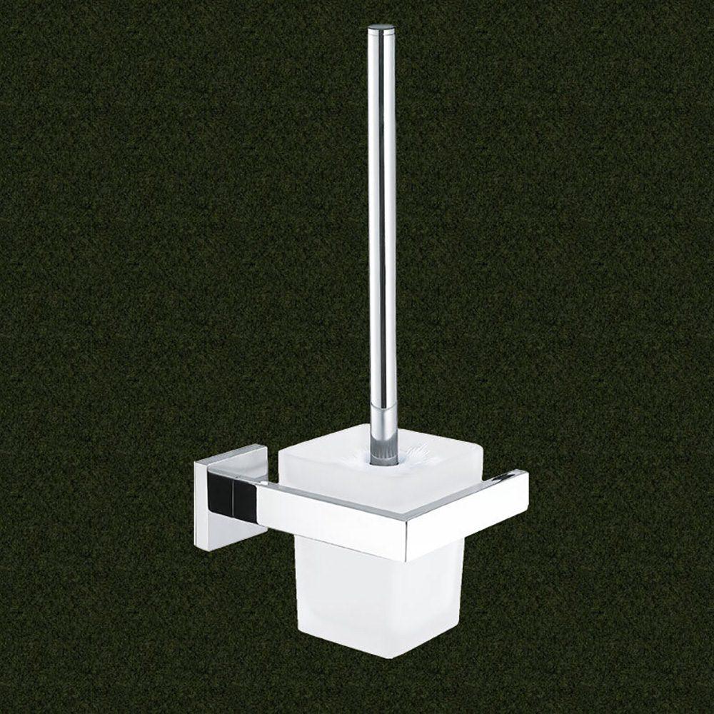 304 Stainless Steel Toilet Brush Holder Bathroom Cleaning Brush Holder With Toilet Brush Wall Mount Brush & Holder Set Hardcore