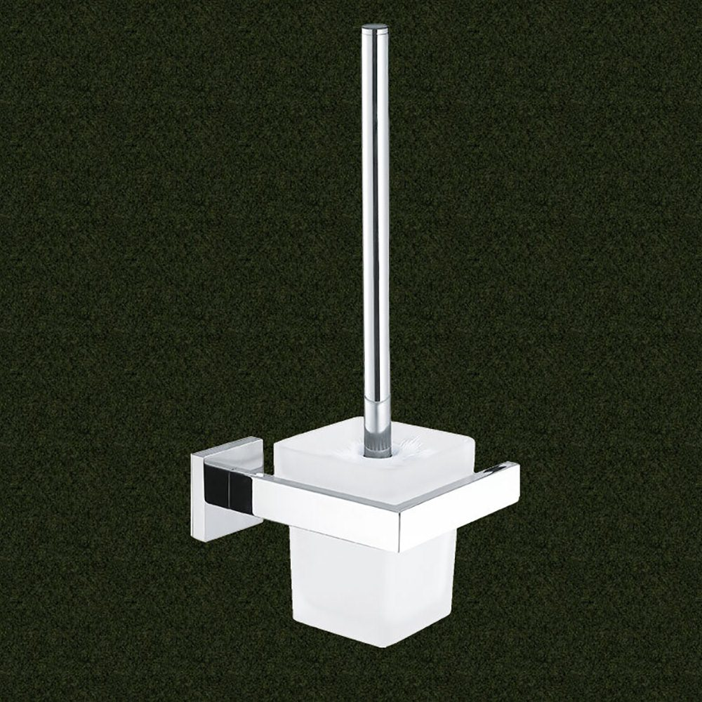 Square Toilet Brush With Holder Stainless Steel Bathroom Cleaning Accessories Tool  Wc Brush & Holder Set Toilet Brush