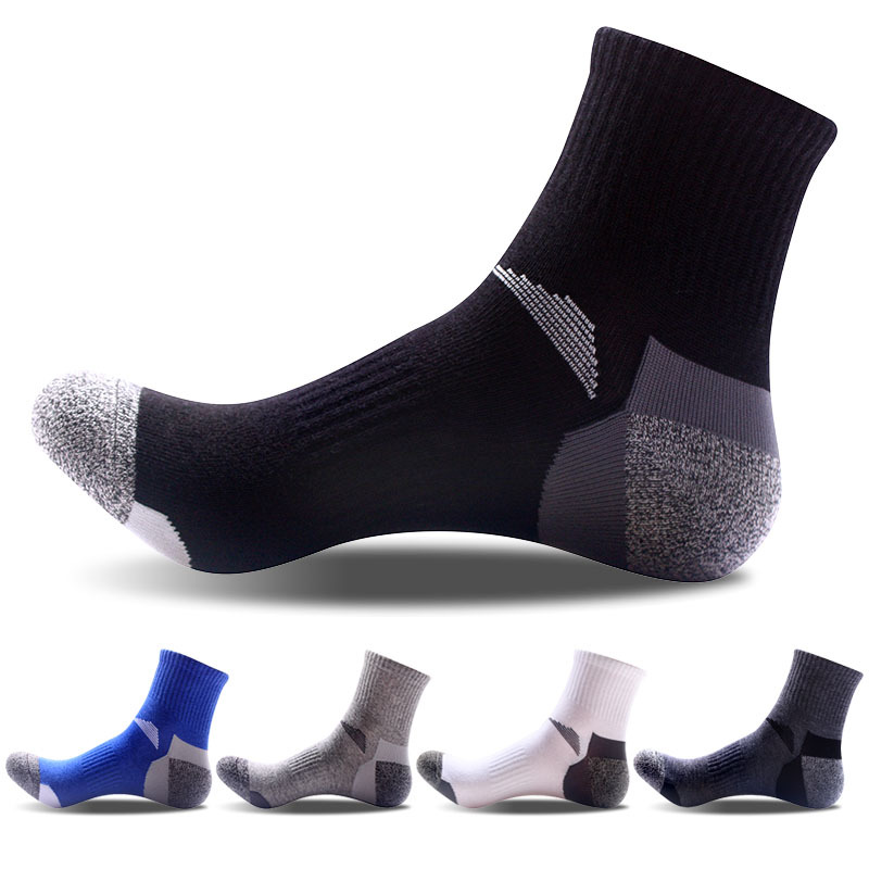 2020 NEW 5Pairs/Lot Breathable Business Casual Cotton Men Crew Socks High Quality Brand Black Sport Socks Male Size 40-45