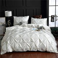 Conjunto de cama de cetim e edredon  capas para as cama de casal com edredon  colcha e almofada