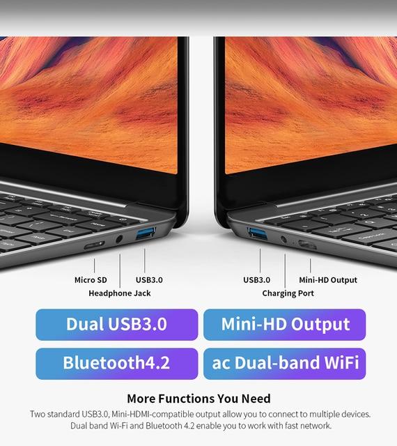 "Newest Teclast F7S Laptop 14.1"" 1920x1080 IPS Windows 10 Notebook 8GB RAM 128GB ROM Laptops Intel Apollo Lake Dual Wifi Computer 6"